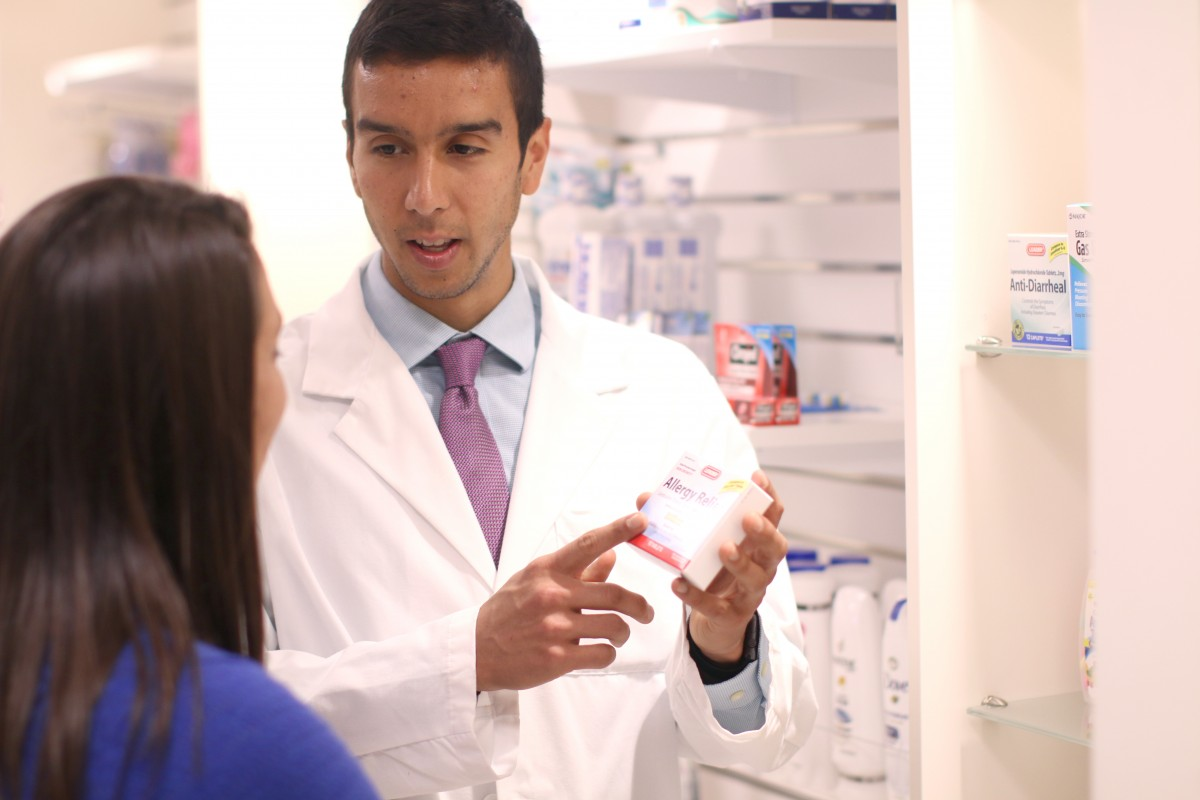 Rene explaining pharmacy