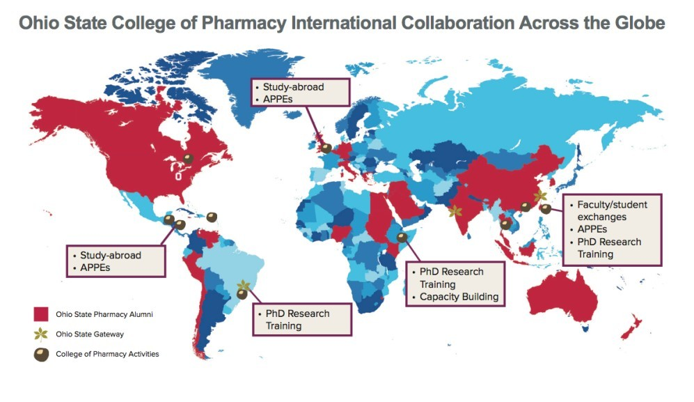 Map of international collaboration