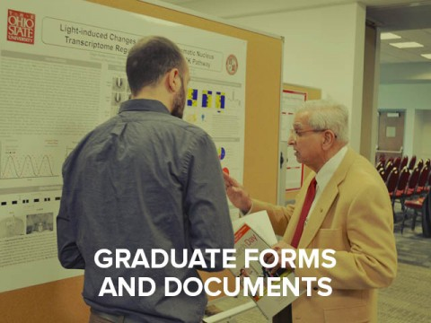 Graduate student forms and documents button