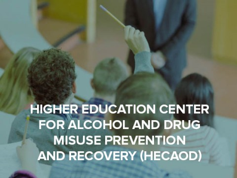 Higher Education Center for Alcohol and Drug Misuse Prevention and Recovery button