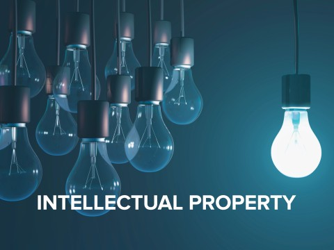 Photo button that says Intellectual Property