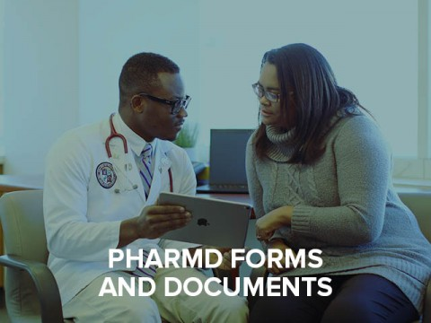 PharmD forms and documents button