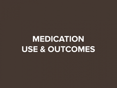medication use and outcome button
