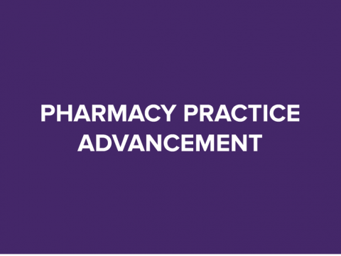 pharmacy practice advancement button