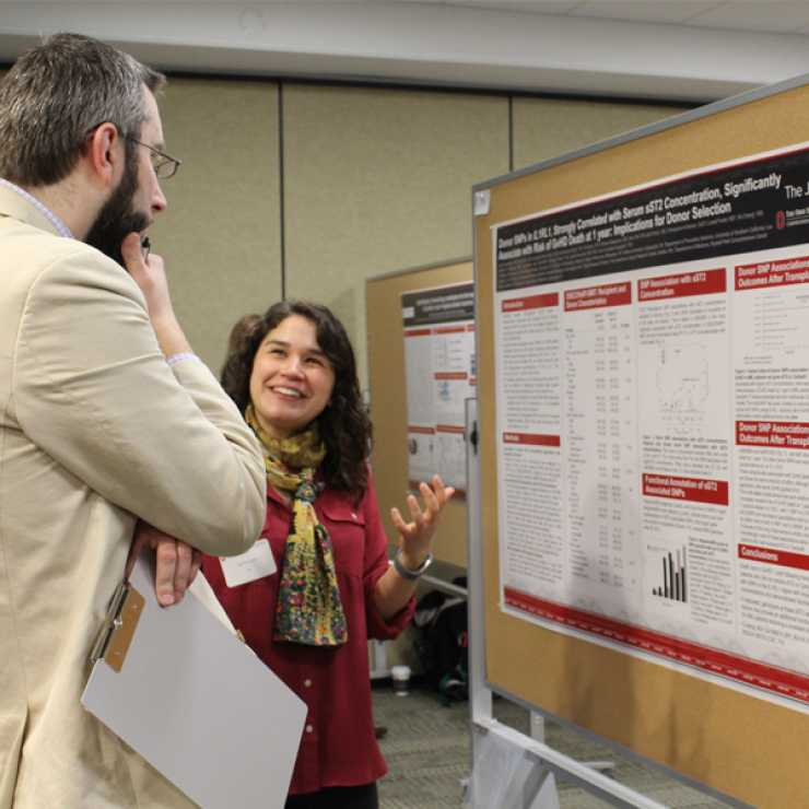 Ezgi presenting her poster