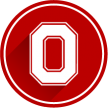 ohio state logo in red circle